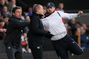 Hearts FC Racist Attempts to attack Neil Lennon